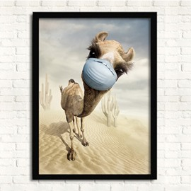 13×17in 3D Camel Hanging Canvas Waterproof and Eco-friendly Framed Prints