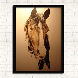 13×17in 3D Horse Head Hanging Canvas Waterproof and Eco-friendly Framed Prints