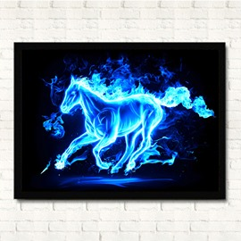 13×17in Running Horse Hanging Canvas Waterproof and Eco-friendly Framed Prints