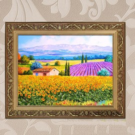 Beautiful Countryside Scenery 1-Panel Framed Wall Art Prints