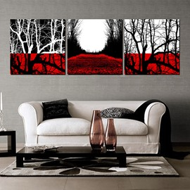 Modern Abstract Style Trees Canvas 3-Panel Wall Art Prints