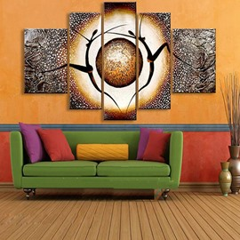 51 Dancers And Planet Pattern Hanging Canvas Waterproof And Eco Friendly  5 Panel Framed Prints