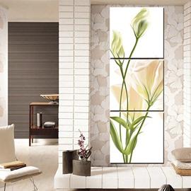 Wonderful Flower Pattern Entrance 3-Panel Wall Art Prints