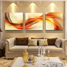 Abstract Frameless Curve Lines 3-Panel Wall Art Print