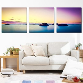 Fabulous Sea View on the Horizon 3-Panel Canvas Wall Art Prints