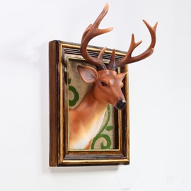 Classic European Style Deer Head Decoration Wall Art Print