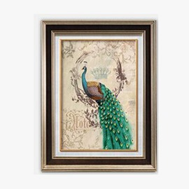 Simple European Style Modern Peacock Wall Art Prints