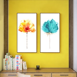 Modern Simple Decorative Flower Pattern Framed Wall Art Print