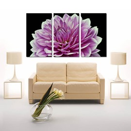 Modern Style Pink Peony Pattern 3 Panels Framed Ready to Hang Wall Art Prints