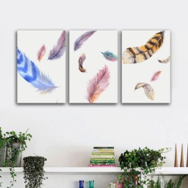 Wonderful Feather Pattern Design Canvas Framed Wall Art Prints