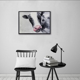 Vivid Dairy Cow Design Ready to Hang Framed Wall Art Prints