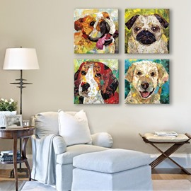 Cute Dogs Pattern Design Ready to Hang Framed Wall Art Prints
