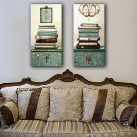 European Style Books on the Desktop Pattern Framed Wall Art Prints