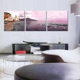 Modern Fashion Seaside Scenery Pattern Framed Wall Art Prints
