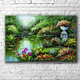 20×28in Green Plants Surrounding Lake Hanging Canvas Waterproof Eco-friendly 1 Piece Framed Prints