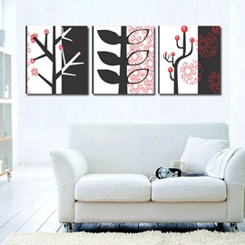Simple Style Tree Pattern Ready to Hang Framed 3 Pieces Wall Art Prints