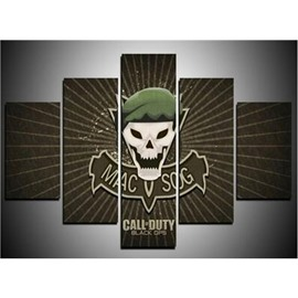 MACVSOG and Call Duty Logos 5-Piece Canvas Non-framed Wall Prints