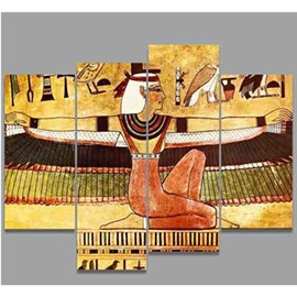 Egyptian Goddess Hanging 4-Piece Canvas Waterproof Non-framed Wall Prints