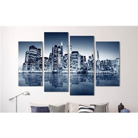 Blue Sky and Architectures Hanging 4-Piece Canvas Waterproof and Eco-friendly Non-framed Prints