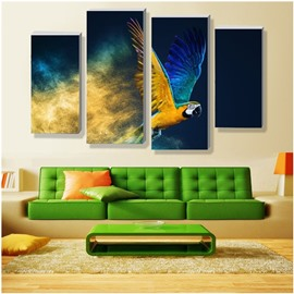 Flying Eagle Hanging 4-Piece Canvas Natural Waterproof and Eco-friendly Non-framed Prints