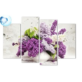Lavenders Hanging 4-Piece Canvas Waterproof and Eco-friendly Non-framed Prints