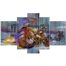 Cool Motorcycle Hanging 5-Piece Canvas Eco-friendly and Waterproof Non-framed Prints