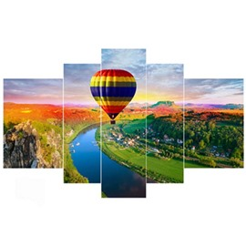 Flying Parachute Hanging 4-Piece Canvas Waterproof and Eco-friendly Non-framed Prints