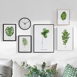 Green Plant Series Canvas Framed Wall Print