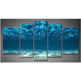 Blue Sea Hanging 5-Piece Canvas Eco-friendly and Waterproof Non-framed Prints