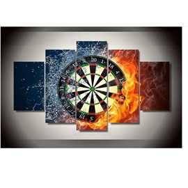Target in Water and Fire Hanging 5-Piece Canvas Eco-friendly and Waterproof Non-framed Prints
