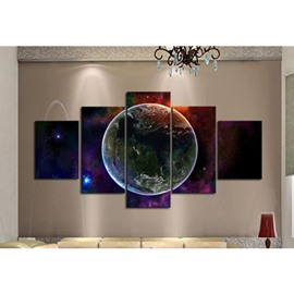 Huge Planet in Universe Hanging 5-Piece Canvas Eco-friendly and Waterproof Non-framed Prints