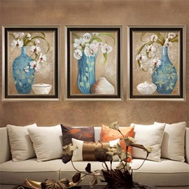The Vase And Flowers Pattern 3 Size Glass Waterproof Wall Prints
