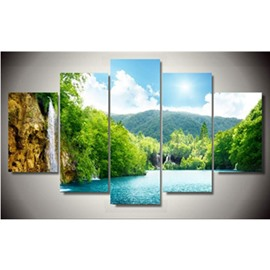 Landscape Scenery Pattern 5-Piece Canvas Hung Non-framed Wall Prints