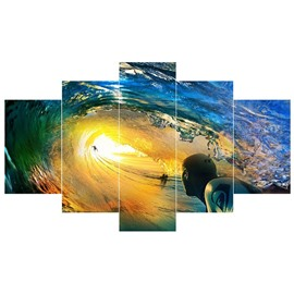 Dreamful Sea Pattern 5-Piece Canvas Hung Non-framed Wall Prints