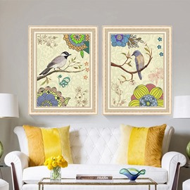 The Creative Birds Pattern 3 Size Glass Waterproof Wall Prints