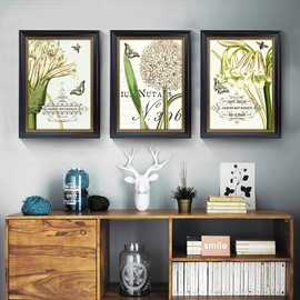 Simple Design Lily Pattern 3 Size Glass Waterproof Wall Prints