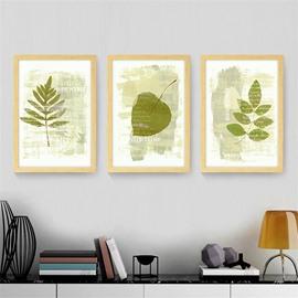 Simple Leaf Pattern 2 Size Glass Waterproof Wall Prints