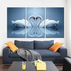 Classic Swan Waterproof and Eco-friendly 11.8*17.7in*3 Pieces Hanging Canvas Wall Prints