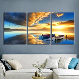 11.8*17.7in*3 Pieces Ship Waterproof and Eco-friendly Hanging Canvas Wall Prints
