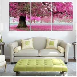 11.8*17.7in*3 Pieces Red Tree Waterproof and Eco-friendly Hanging Canvas Wall Prints