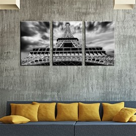 Grey Tower Waterproof and Eco-friendly 11.8*17.7in*3 Pieces Hanging Canvas Wall Prints