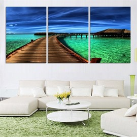 11.8*17.7in*3 Pieces Sea Scene Hanging Canvas Waterproof and Eco-friendly Wall Prints