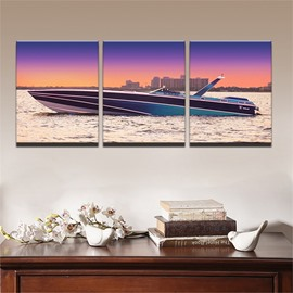 11.8*17.7in*3 Pieces Creative Ship Hanging Canvas Waterproof and Eco-friendly Wall Prints