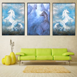 11.8*17.7in*3 Pieces Dreamful Horse Hanging Canvas Waterproof And Eco-friendly Wall Prints