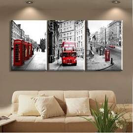 11.8*17.7in*3 Pieces Red Car Hanging Canvas Waterproof And Eco-friendly Wall Prints