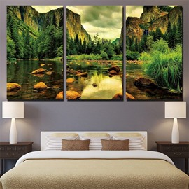 11.8*17.7in*3 Pieces Landscape Hanging Canvas Waterproof And Eco-friendly Wall Prints