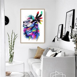 Indian Lion Pattern Hanging Canvas Waterproof Eco-friendly Framed Prints