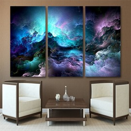 Abstract Aurora Pattern 3 Pieces Hanging Canvas Waterproof Eco-friendly Framed Wall Prints