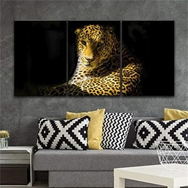 3 Pieces Vivid Leopard Hanging Canvas Waterproof And Eco-friendly Framed Wall Prints