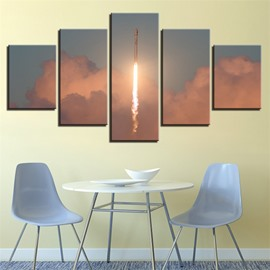 5 Pieces Rocket Pattern Hanging Canvas Waterproof Eco-friendly Framed Wall Prints